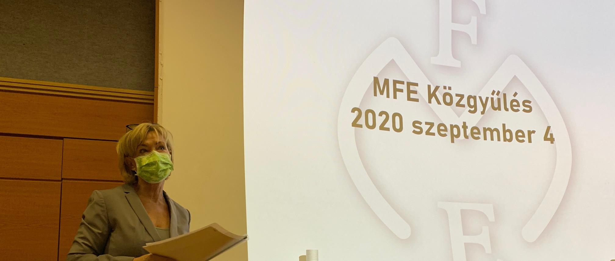 MFE Közgyűlés 2020. szeptember 4.